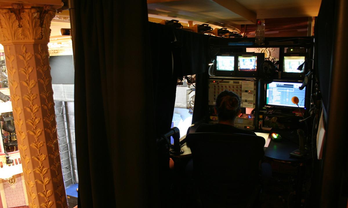 Control desk and operator