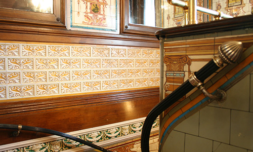 Handrail and tiles