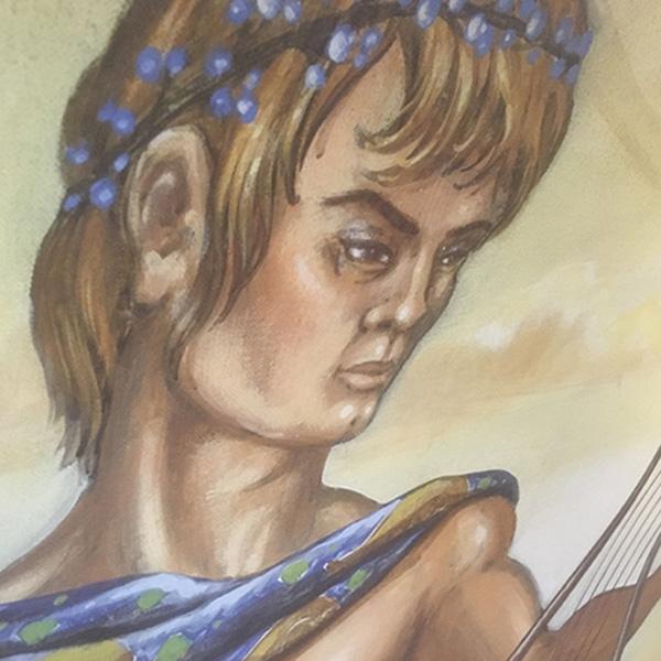 Detail of cherub painting