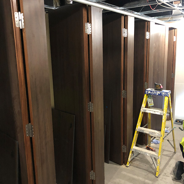 New cubicles installed